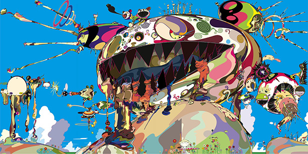 2002_Tan_Tan_Bo_Puking_a.k.a._Gero_Tan_acrylic_on_canvas_360_x_720_cm_2002_Takashi_Murakami_Kaikai_Kiki_Co