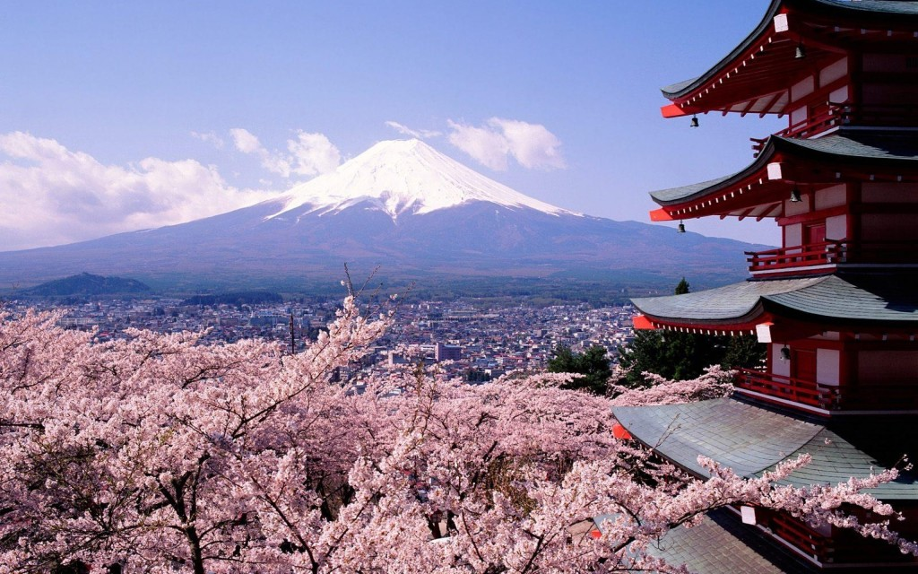 Tokyo-Fuji-Mountain-and-Sakura-Flower-HD-Wallpaper-Desktop-1024x640